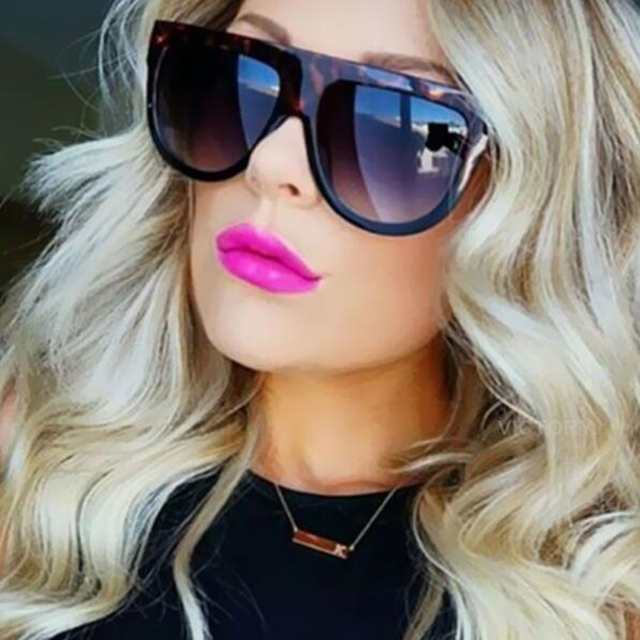 Oversize Sunglasses Women Brand Shades Men Retro Flat Top Cat eye Glasses Sunglass Female Oculos de sol feminino
