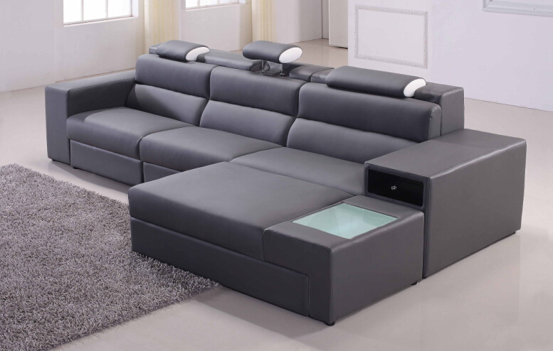 Online get cheap grey modern sofas alibaba group for Sofa moderne marron gris