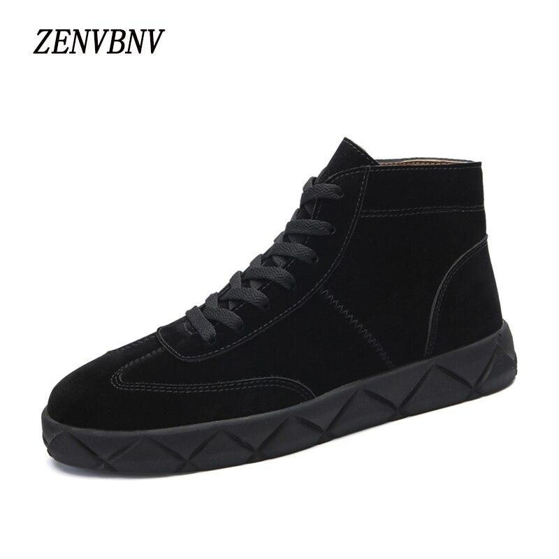 Zenvbnv Фирменная Новинка Стиль осень сплошной Мужская обувь Высокое качество Для мужчин из искусственной кожи чёрный; коричневый Повседневна…