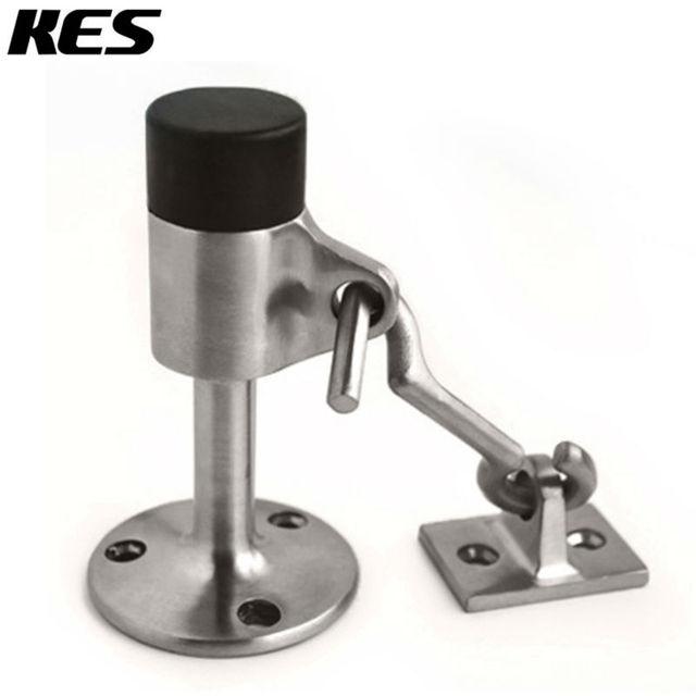 KES Stainless Steel Contemporary Safety Door Stop With Hook Door Holder  Doorstop With Sound Dampening Rubber