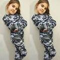 UK Meninas Meninos Crianças Camuflagem Blusa T-Shirt Top + Calças Outfit Clothes