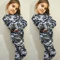 UK Niñas Niños Niños Blusa Camiseta Top + Pantalones Traje Ropa de Camuflaje
