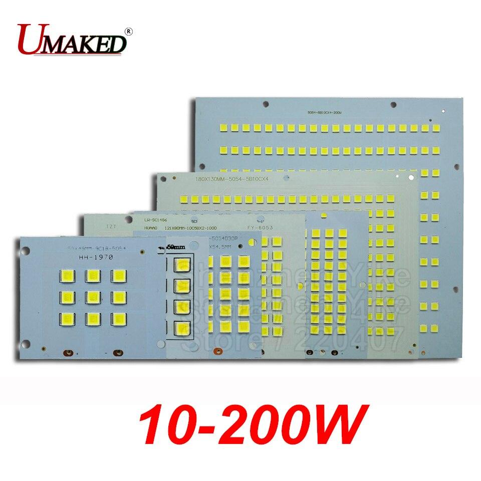 1PC 100% Full Power LED Floodlight PCB 10W 20W 30W 50W 100W 150W 200W SMD5054 led board,Aluminum plate for led floodlight