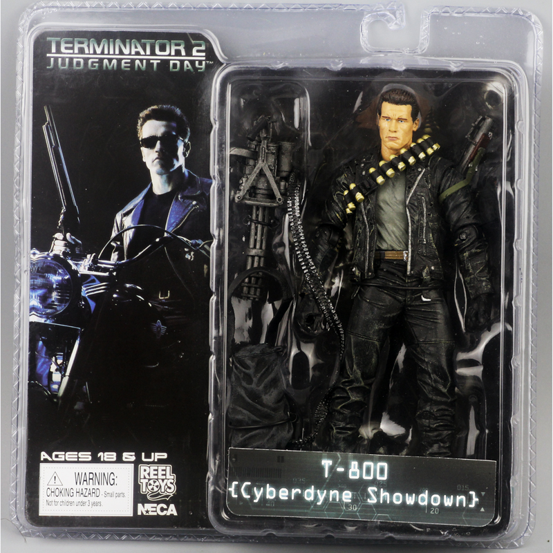 "Image 5 - New Box Free Shipping NECA The Terminator 2 Action Figure T800 Cyberdyne Showdown PVC Figure Toy 7""18cmfigure toytoys free shippingterminator 2 -"