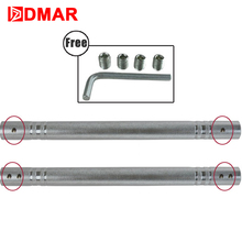DMAR 1pc Electroplated Dumbbells Rod Connecting choosable length One Second Change Barbell Fitness Equipment Accessories
