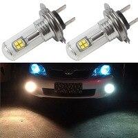 2X LED Automotivo luzes de nevoeiro H7 3000LM 80 W Luzes Do Carro Faróis de Nevoeiro DRL Condução Luz Xenon Branco 6000 K Carro Styling