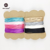 Let's Make Satin Nylon Cord Perfect For Teething Or Sensory Necklaces 40m Craft Supplies & Tools Silicone Teething Necklace Cord