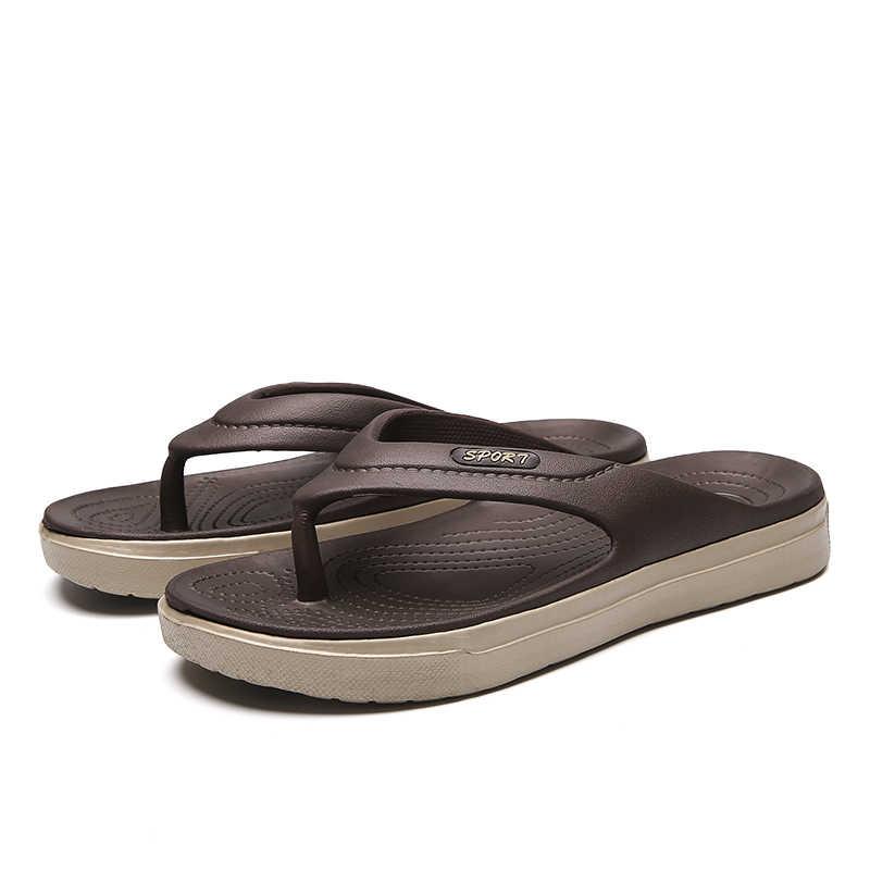 2019 Thời Trang Mùa Hè Người Đàn Ông FlipFlops Dép Đi Trong Nhà Nam Nhanh Chóng Khô Trọng Lượng Nhẹ Ngoài Trời Bãi Biển Dép cho Người Đàn Ông Mềm Không-trượt Zapatos giày