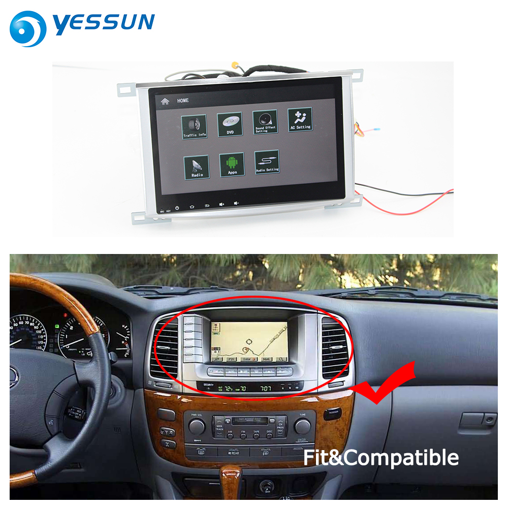 YESSUN For Lexus LX 470 2002~2007 Car Android Carplay GPS Navi maps Navigation Player Radio Stereo BT HD Screen no CD DVD yessun for mazda cx 5 2017 2018 android car navigation gps hd touch screen audio video radio stereo multimedia player no cd dvd