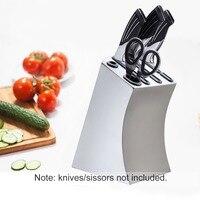 Stainless Steel Kitchen Knife Holder Organizer ABS Block Stand Storage Holder Shef Rack Kitchen Knife Accessories