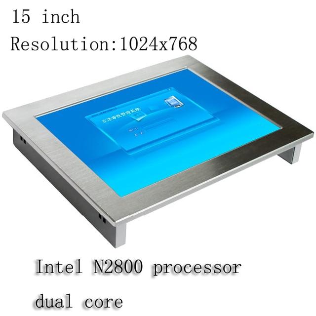 ファンレス15インチip65防水モニターミニオールインワンpc産業用パネルpcタッチスクリーンlcdディスプレイ