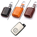 New 2 Buttons PU Leather Remote Key Chain Holder Case Cover For Toyota Series D