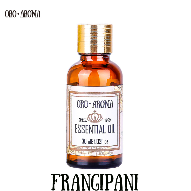 Famous brand oroaroma natural aromatherapy Frangipani oil Clean air Repel mosquitoes perfume material Frangipani Essential oil famous brand oroaroma castor oil natural aromatherapy high capacity skin body care massage spa castor essential oil
