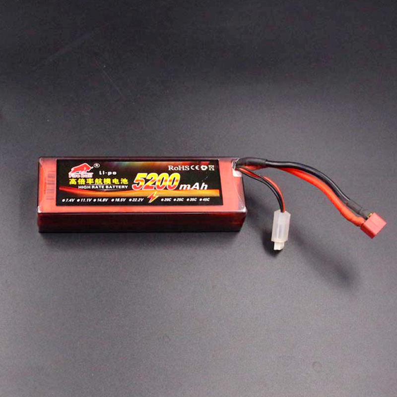 RC <font><b>Lipo</b></font> battery <font><b>2s</b></font> 7.4V <font><b>5200mAh</b></font> 50C for radio control toy aircraft car helicopter drone airplane boat quadcopter image