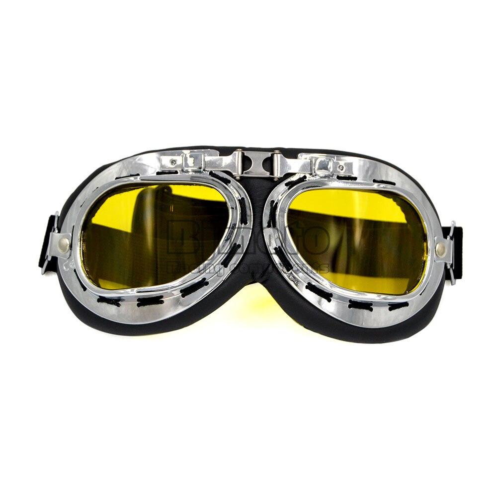 BJMOTO Universal Silver Frame Motorcycle Goggles Motocross Helmet Goggle Offroad Eyewear Outdoor Glasses For Women Men