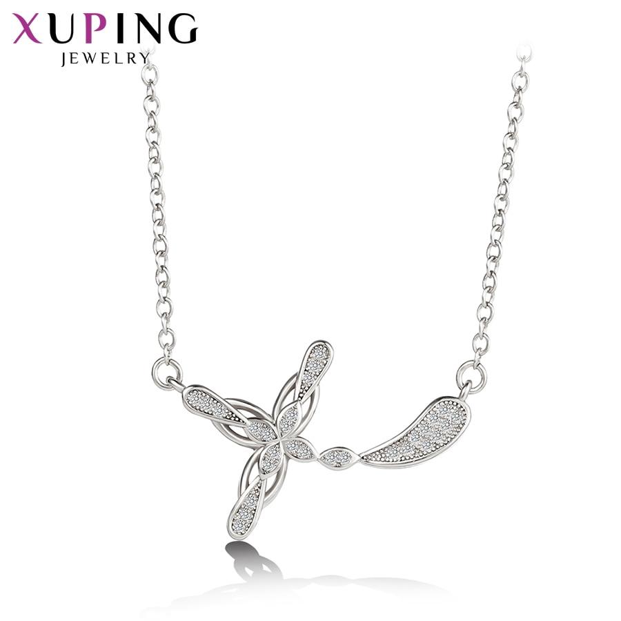 11,11 сделок Xuping популярных крест-накрест подвеска с синтетическими CZ украшения для Для женщин боксерские подарок на день M54-40079