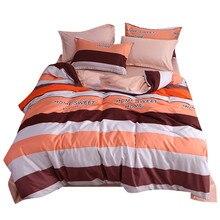أربع قطع غطاء لحاف مخطط كامل الحجم الأميرة الدانتيل ورقة المفرش السرير غطاء مرتبة و pillowcas الدافئة مبطن مبطن