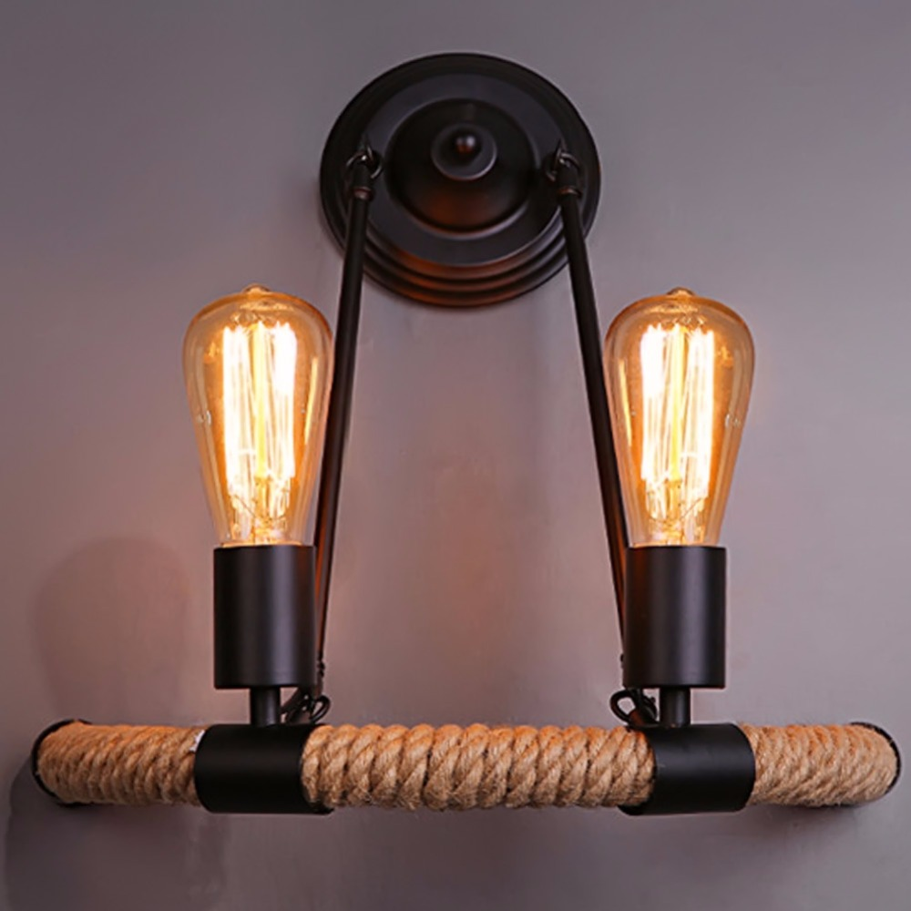 Scandinavian Retro Fashion Designer Lamps Minimalist Balcony Staircase Wall Sconce Lights Semicircle Hemp Pendlight Chandelier чайник bosch twk 6002