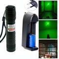 Мощный военный регулируемый фокус 532nm 200 МВт Lazer зеленая лазерная указка фонарик + 16340 аккумуляторная батарея + смарт-зарядное устройство