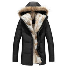 2017 North Down Men Winter Jackets Mens Duck Down Coat Cashmere Fleece Parka Man Jacket Coat Genuine Fur Hooded Parkas for Men