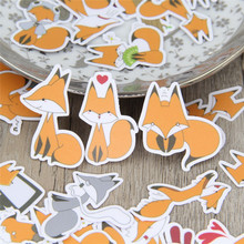 40 Pcs lot Funny little fox DIY Decorative paper Sticker Decal For font b Phone b