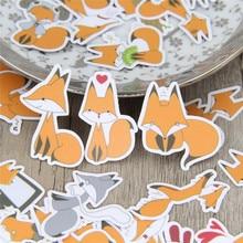 Adesivo de papel decorativo da little fox, decalque para celular, laptop e diário, mochila infantil, adesivos de brinquedo, 40 pçs/lote