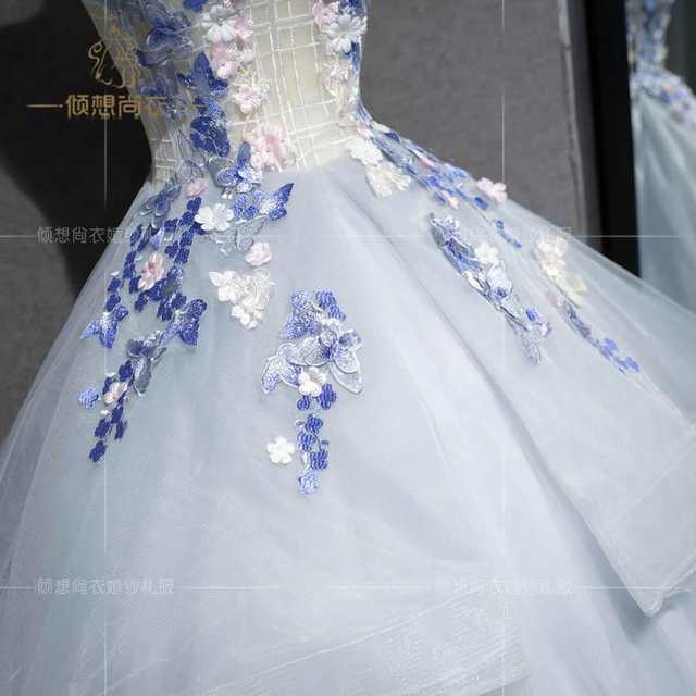 100%real studio silver light grey petals fancy fairy ball gown medieval  dress court renaissance bda67076ecea