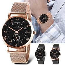 купить Exquisite Unisex Watch Quartz Luxury Casual Rose Gold Fashion Stainless Steel Strap Crystal Retro WristWatch relogio feminino по цене 277.85 рублей