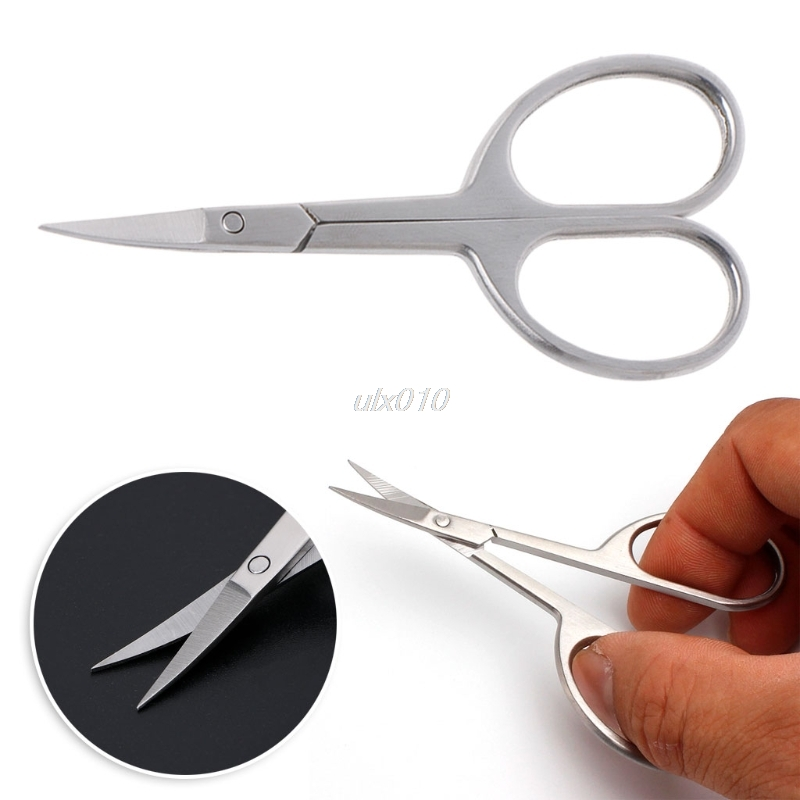 Professional Nail Scissor Manicure Tool For Nails Eyebrow Nose Eyelash Cuticle Scissors Curved Pedicure Scissors Oct Drop Ship vivienne sabo curved manicure scissors ножницы маникюрные изогнутые