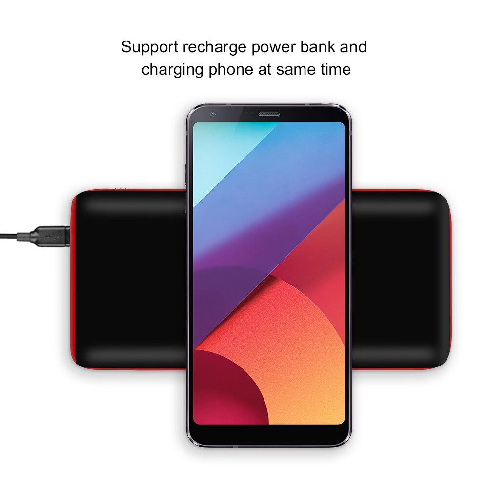 Chargeur batterie externe sans fil Portable 20000 mAh Ultra-mince Powerbank téléphone Portable 2.1A sortie li-polymère Batteries externes
