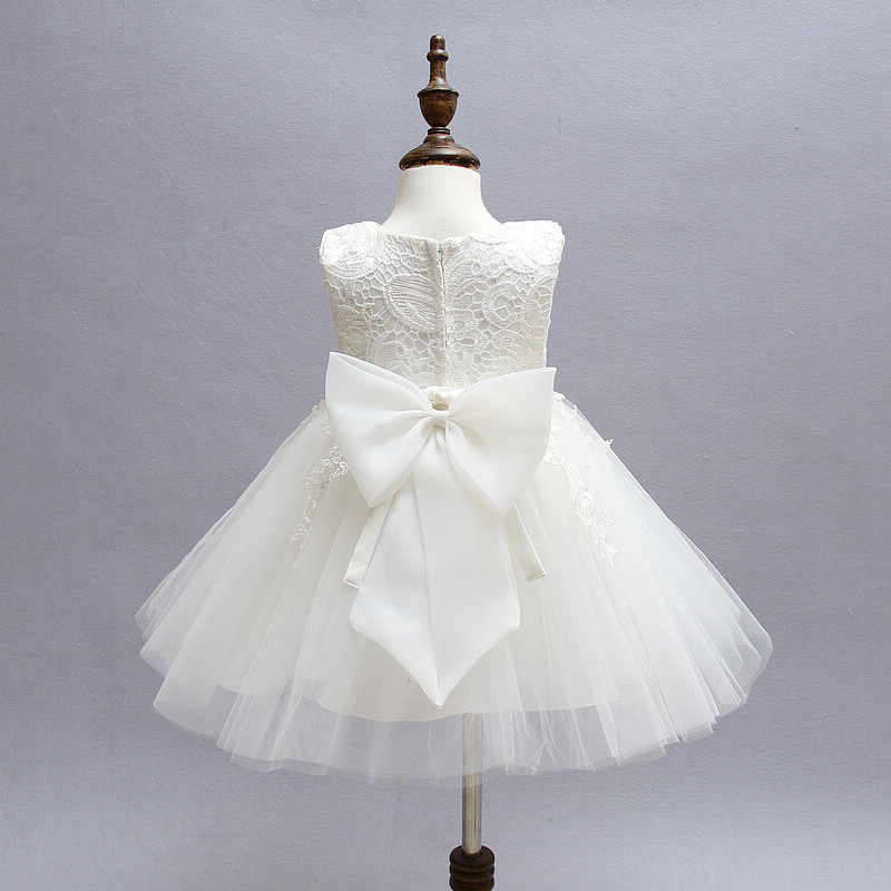 Soft Baby Girl Christening Gown Lace Baptism Dress Party Tutu Dress  3-24M