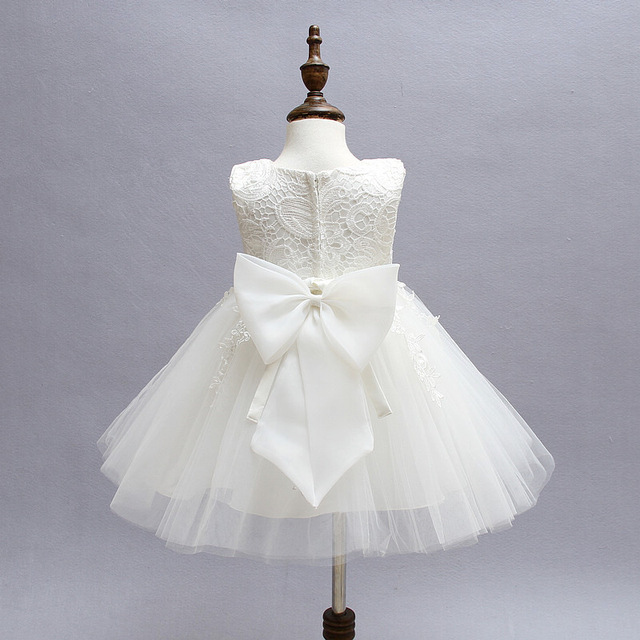 6329766d6cb2b White Lace Newborn Baby Dress Christening Baptism Girl 1st 2nd Birthday  Dresses Tutu Little Girl Party Toddler Clothes 12M 24M