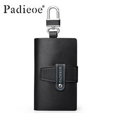 New 2017 real leather car wallet large capacity multi-function key bag fashion housekeeper holder 6 key ring car key bag small