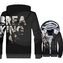 New Bleak Tops Breaking Bad Hoodies Men Winter Thick Sweathsirt Gothic Jacket Zipper Fleece Coat Male 2018 Hot Sale Mens