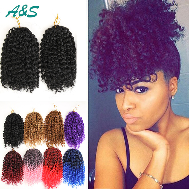 100 New Synthetic Kinky Curly Weave Synthetic Hair Bundles Crochet
