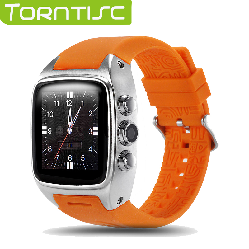 imágenes para SW16 Torntisc Bluetooth Reloj Inteligente MTK6572 Android 4.4 OS Soporte Corazón Rate Monitor Cámara GPS 3G WIFI TF Micro Tarjeta SIM reloj