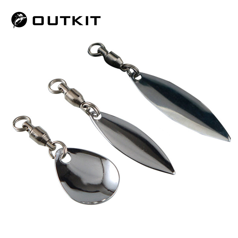 OUTKIT 6 Pcs/lot Lure DIY For Spinner Spoon Lures Frogs VIB Reflective Stainless Steel Sheet Noisy Spoons Fishing Accessories|Fishing Tools|   - AliExpress