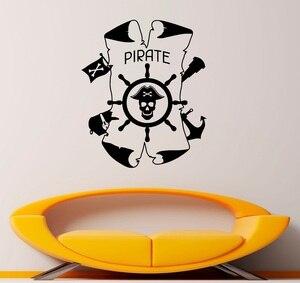 Image 1 - Ancla náutica y el timón de vinilo etiqueta de la pared de entusiastas de la náutica baño interior baño decoración del hogar arte de la pared de 1HH13