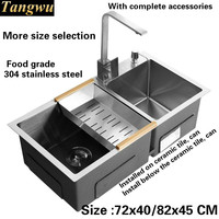 Free Shipping Kitchen Sink 4 Mm Thick Food Grade 304 Stainless Steel Ordinary Large Single Slot
