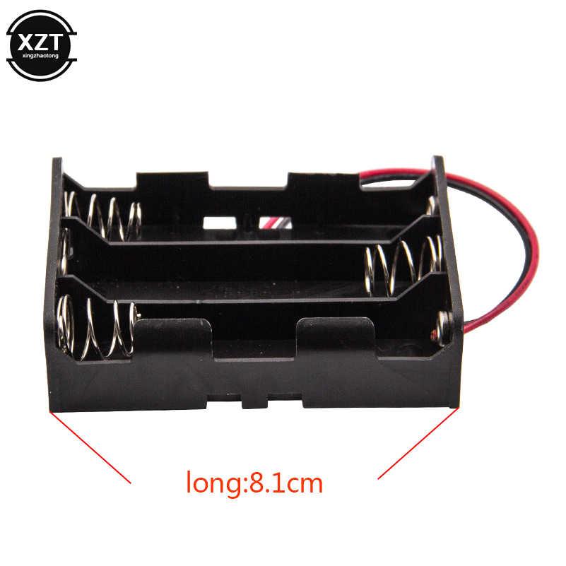 Пластик 18650 Коробка для хранения батареи Твердый держатель для 1x 2x 3x 4x слот способ DIY 18650 аккумуляторная батарея банк питания чехол провод свинца