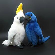 Stor Storlek Riktigt Parrot Plush Leksaker Hyacint Macaws Fyllda Djur Leksaker Cockatoo Bird Plush Dolls Gifts