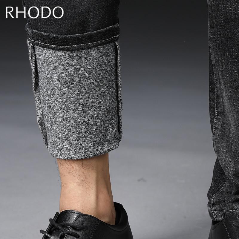 Rétro Denim Droit Stretch Casual Pour Fit Blue Black Épaissir Slim Jeans Chaud dark 28 Nouveau L'hiver Hommes Polaire Élastique De 36 Pantalon En q4Ow6qavE7