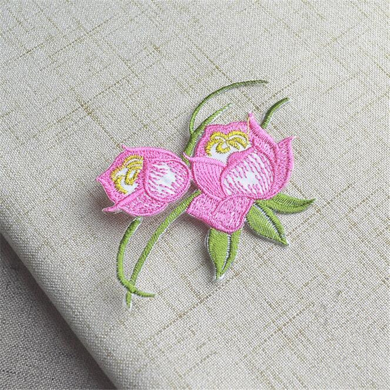 5pcslot Small Flower Embroidery Iron On Patch For Clothing Jeans