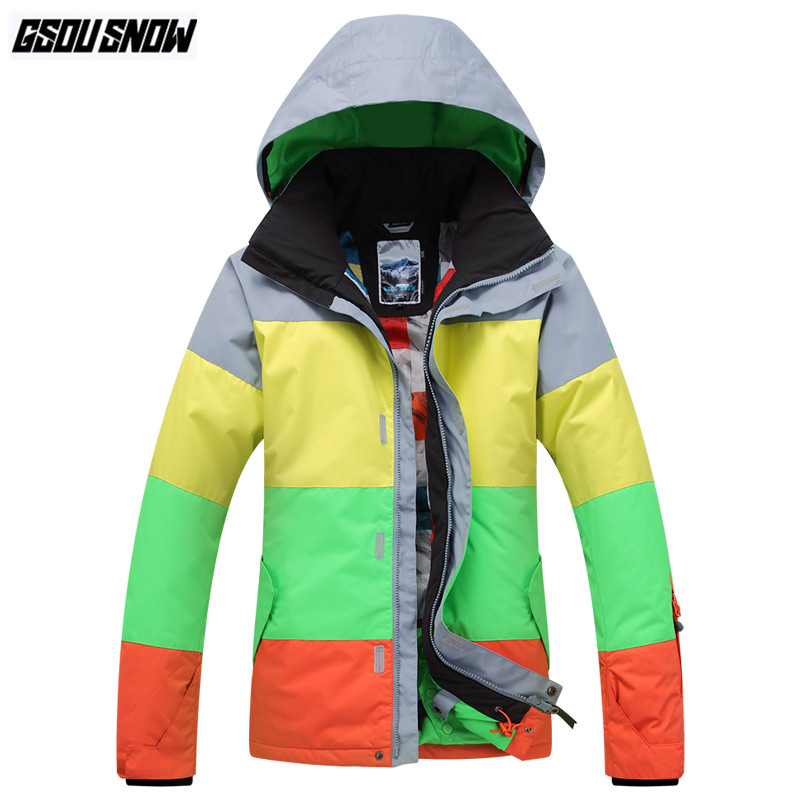 0e64b59e72d0 GSOU SNOW Brand Ski Jackets Men Snowboarding Jackets Winter Waterproof  Skiing Clothes Male Outdoor Sport Coat Snowboard Clothing