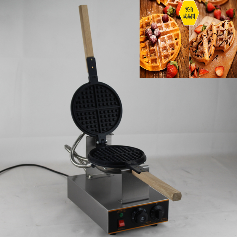 Professional Heavy Duty Electric single Waffle Maker Machine цена