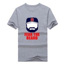 New Jonny Gomes Red Sox Fear The Beard100% cotton short sleeve T-shirt 1102-3