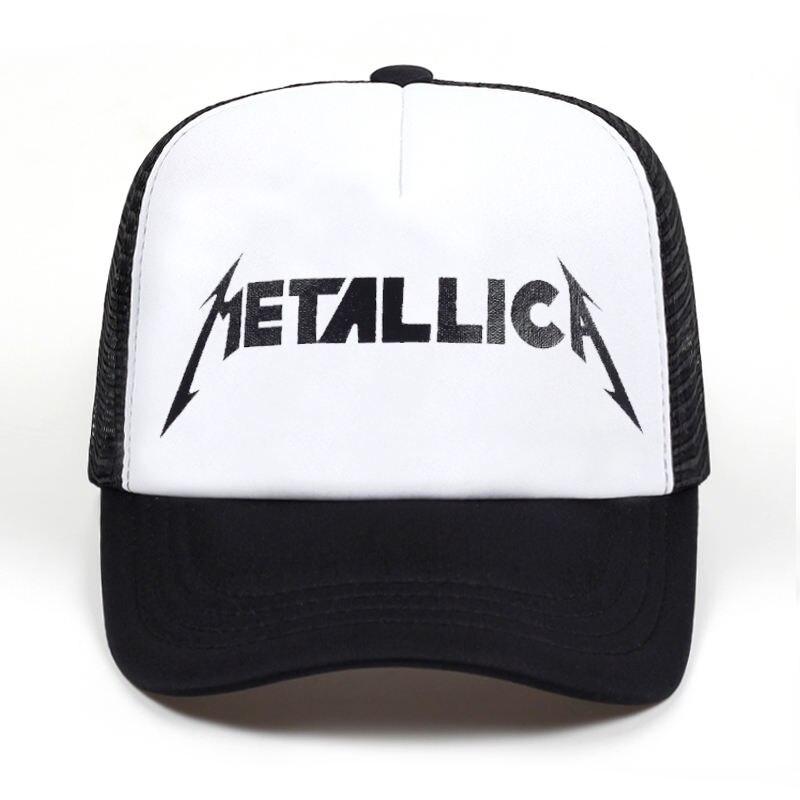 0d7a2770c13 Women Men Cool Rock Black Baseball Caps Metallic Band Fans Cap Metal ...