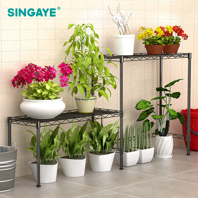 Sine Garden Planter Storage Shelf For Succulent Flower Plants Organizer Rack Potted Supplies