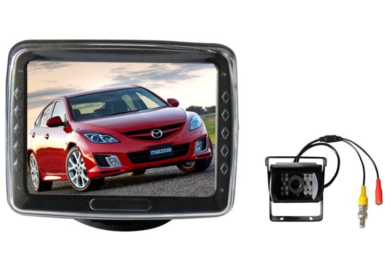 car rear view parking system 3.5 inch stand lcd monitor with Night camera hot selling freeshipping
