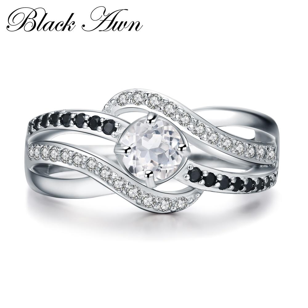 925 Sterling Silver Fine Jewelry Trendy Engagement Bague Femme For Women Anillos De Plata 925 De Ley Wedding Rings Bijoux C047